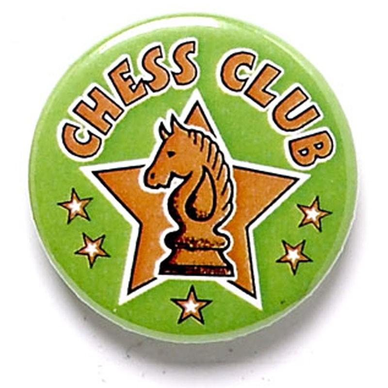 Chess Club Button Badge