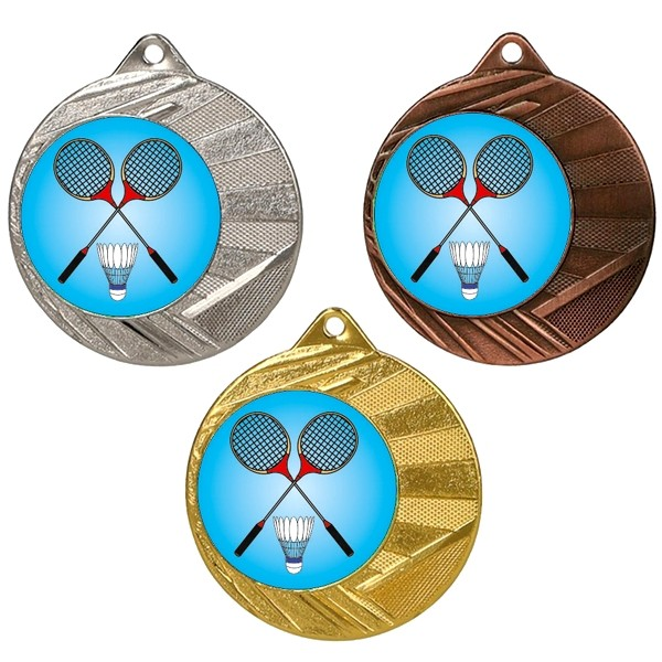 "Badminton 50mm Medal with 1"" Centre"
