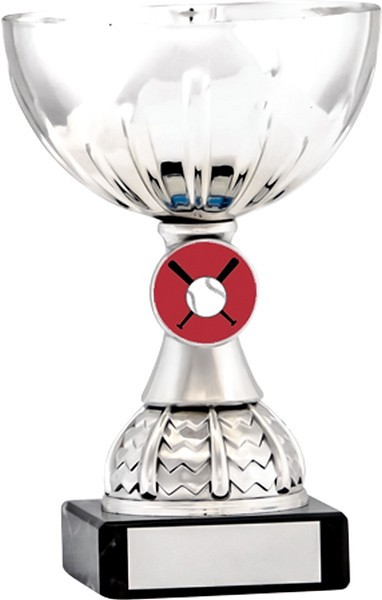 Silver Cup Trophy with Baseball Insert