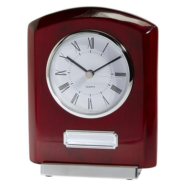Idaho Crystal & Rosewood Clock Award