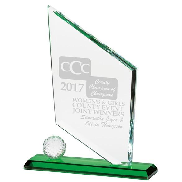Verdant Spire Crystal Golf Award