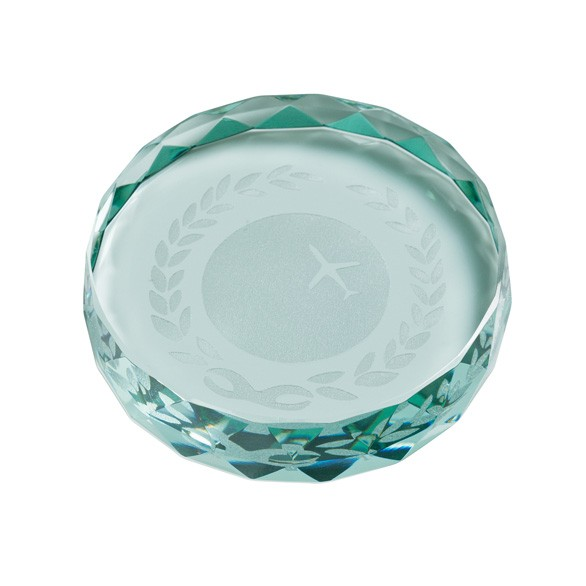 Jade Gaia Glass Paperweight