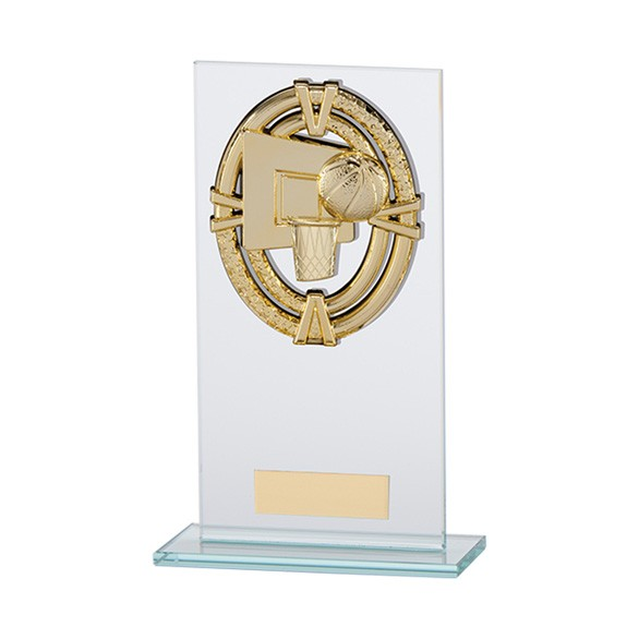Maverick Legacy Glass Basketball Gold