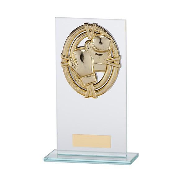 Maverick Legacy Glass Award Boxing Gold