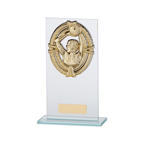 Maverick Legacy Glass Award Netball Gold