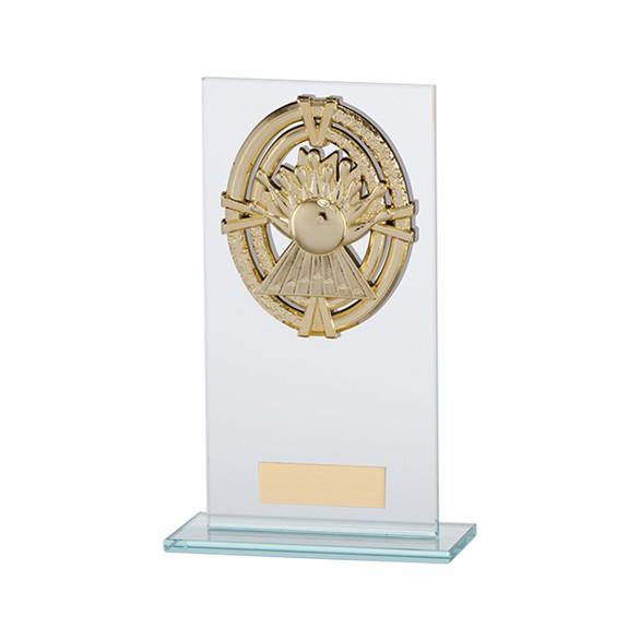 Maverick Legacy Glass Award TenPin Gold