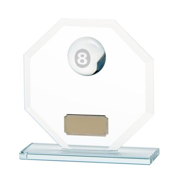 Jade Agility Pool/Snooker Crystal Award