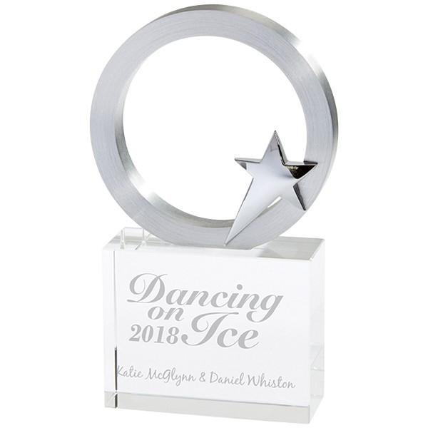 New Orleans Crystal & Chrome Award Silver