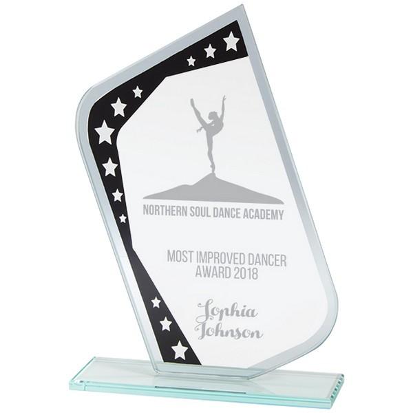 Meteor Mirror Glass Award Black & Silver