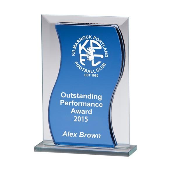 Azzuri Wave Mirror Glass Award