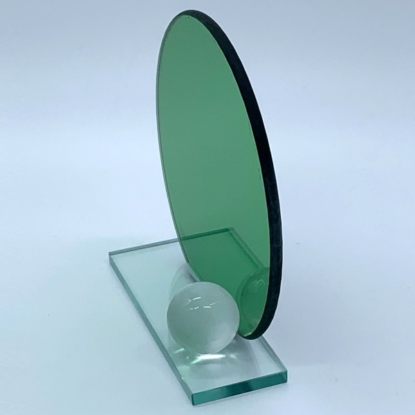 Green Football Glass Plaque