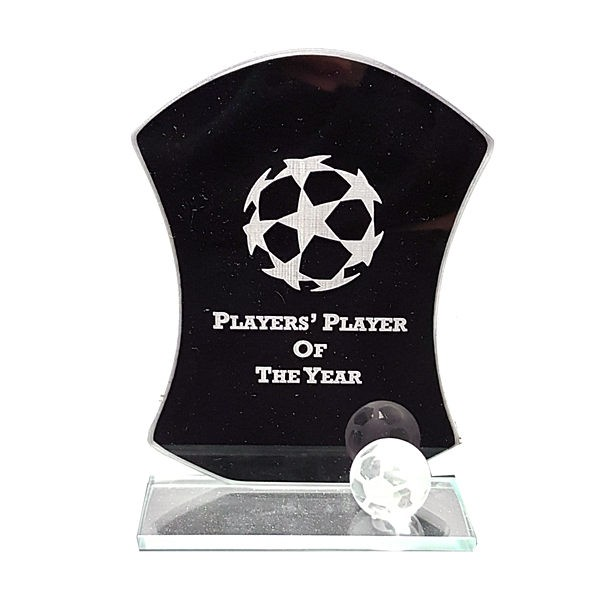 Jet Oblivion Football Mirror Glass Award
