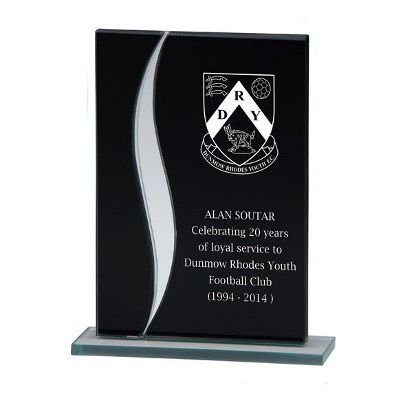 Spirit Fury Black Mirror Glass Award