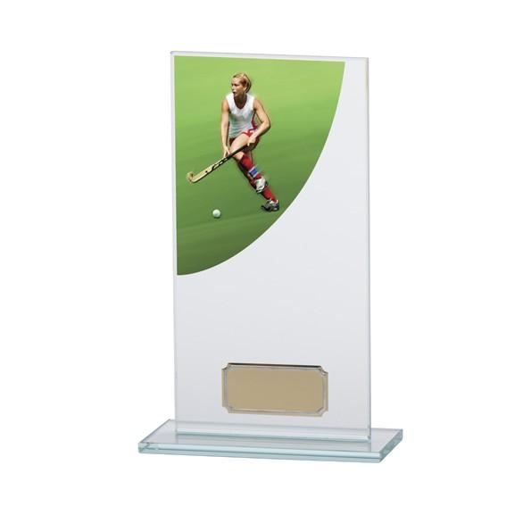 Hockey Colour-Curve Jade Crystal Award