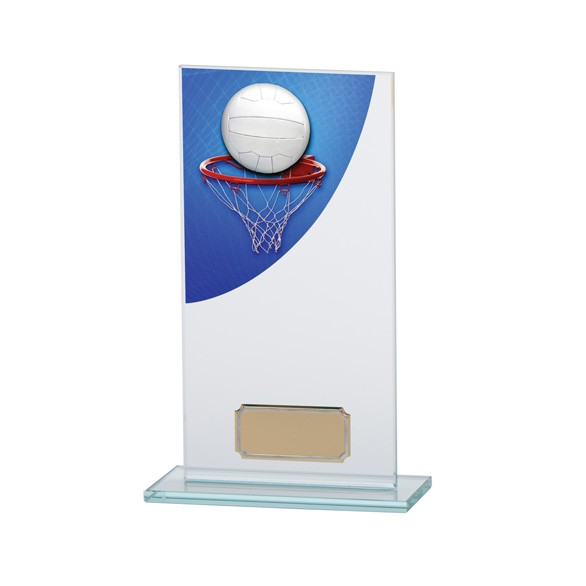 Netball Colour-Curve Jade Crystal Award