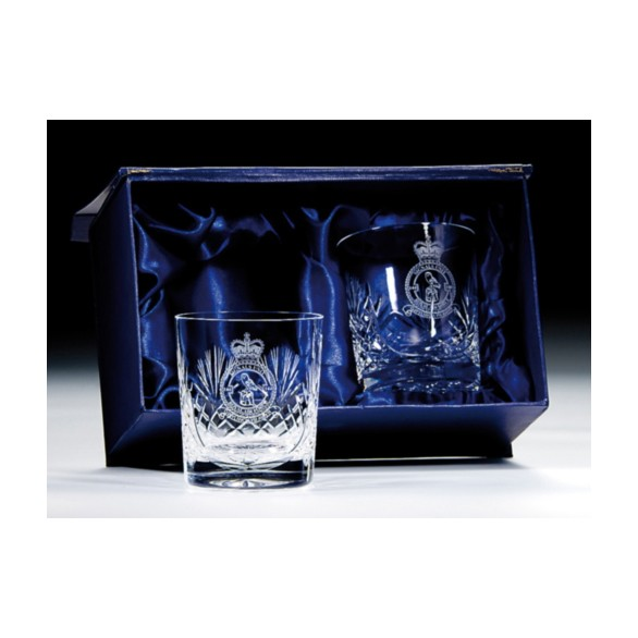 Lindisfarne Evin Crystal Whiskey Glasses