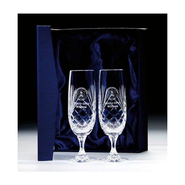 Lindisfarne Orco Crystal Champagne Glass