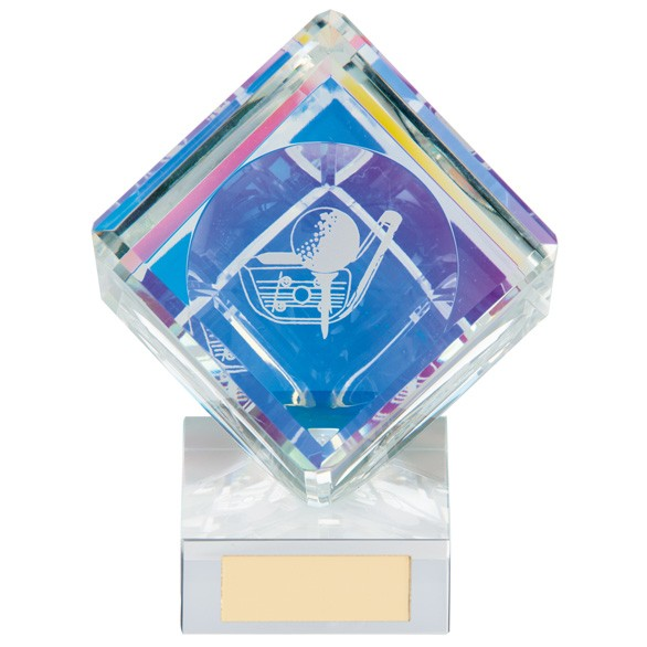 Victorious Golf Cube Crystal Award