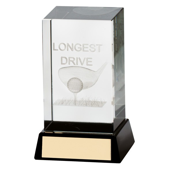 Lanark Crystal Golf Block Longest Drive