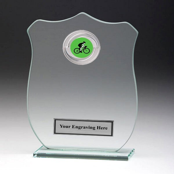 Jade Glass Shield Plaque with Cycling Insert
