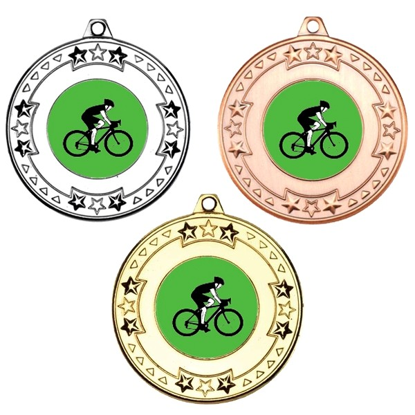 Cycling Tri Star Medals