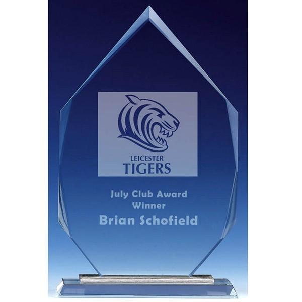 Jade Glass Shard Trophy with Luxury Presentation Box