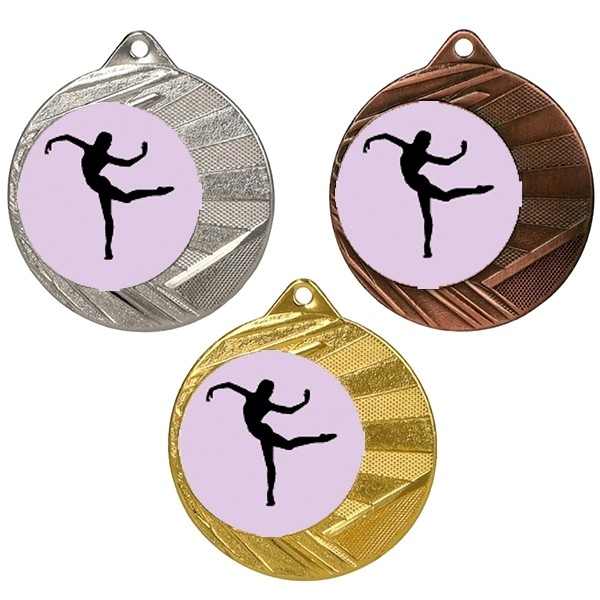 """Dance 50mm Medal with 1"""" Centre"""