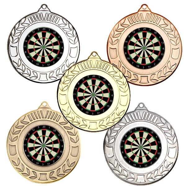 Darts Wreath Medals