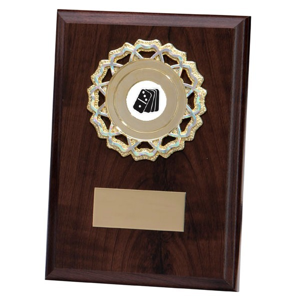Shannon Cherrywood Plaque with Dominoes Insert