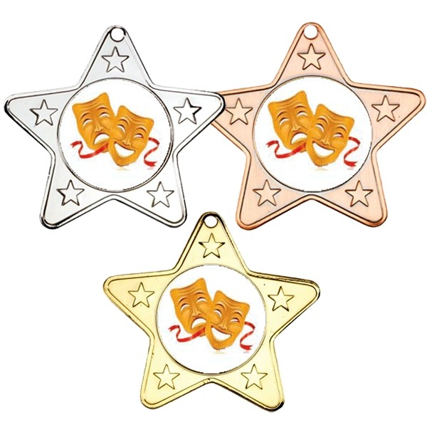 Drama Star Shaped Medals