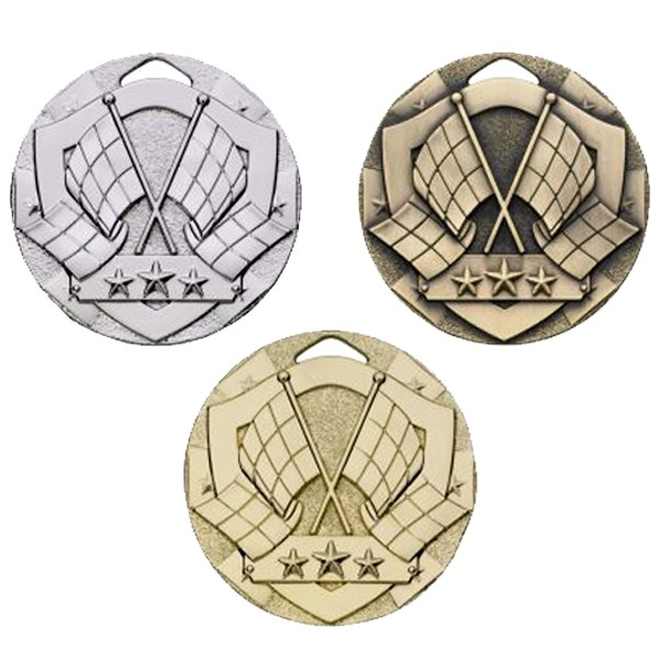50mm Flags Mini Shield Medal