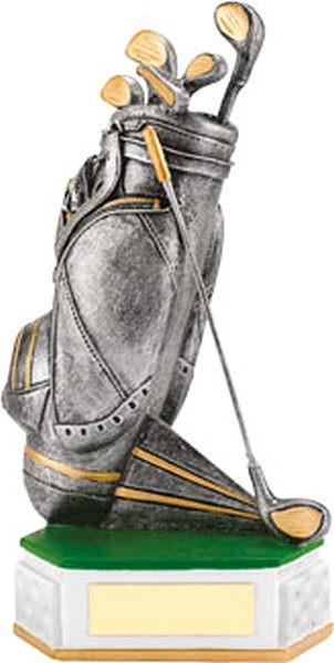 Silver Golf Bag Trophy