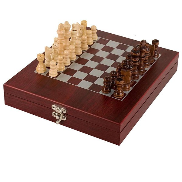 Rosewood Finish Chess Set