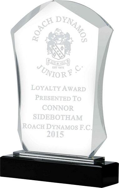Clear Glass on Black Base Award