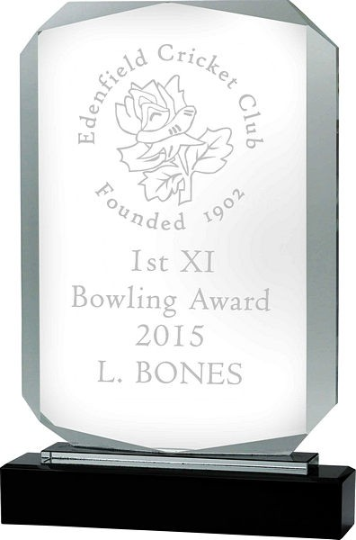Rectangle Glass on Black Base Award
