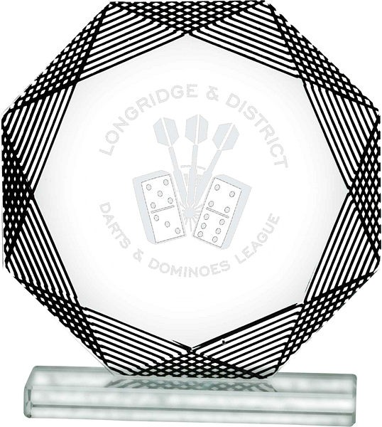 Glass Octagon Award with Black Detail