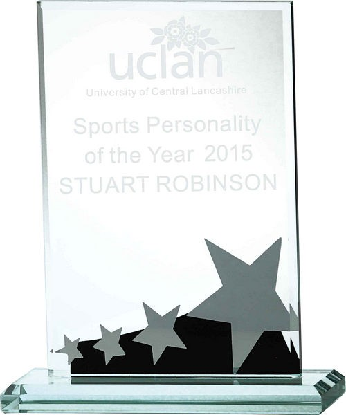 Rectangle Glass Star Award