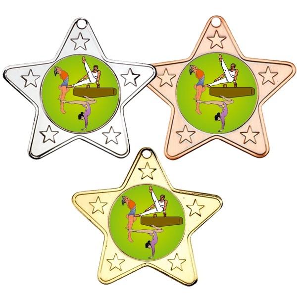 Gymnastics Star Shaped Medals