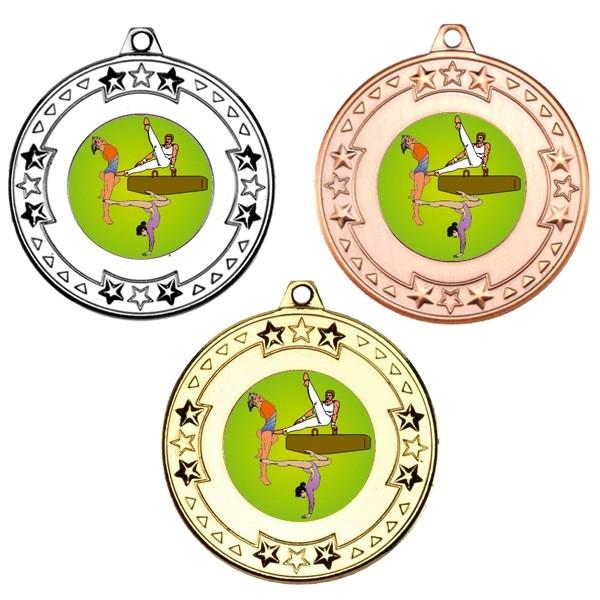 Gymnastics Tri Star Medals