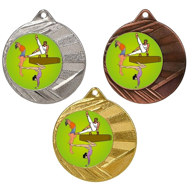 "Gymnastics 50mm Medal with 1"" Centre"