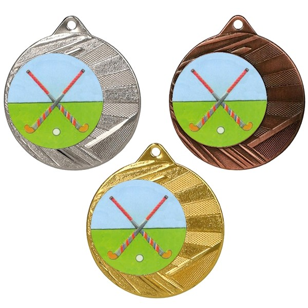 "Hockey 50mm Medal with 1"" Centre"