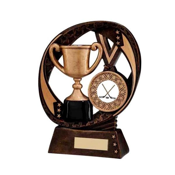 Typhoon Achievement Award with Ice Hockey Insert
