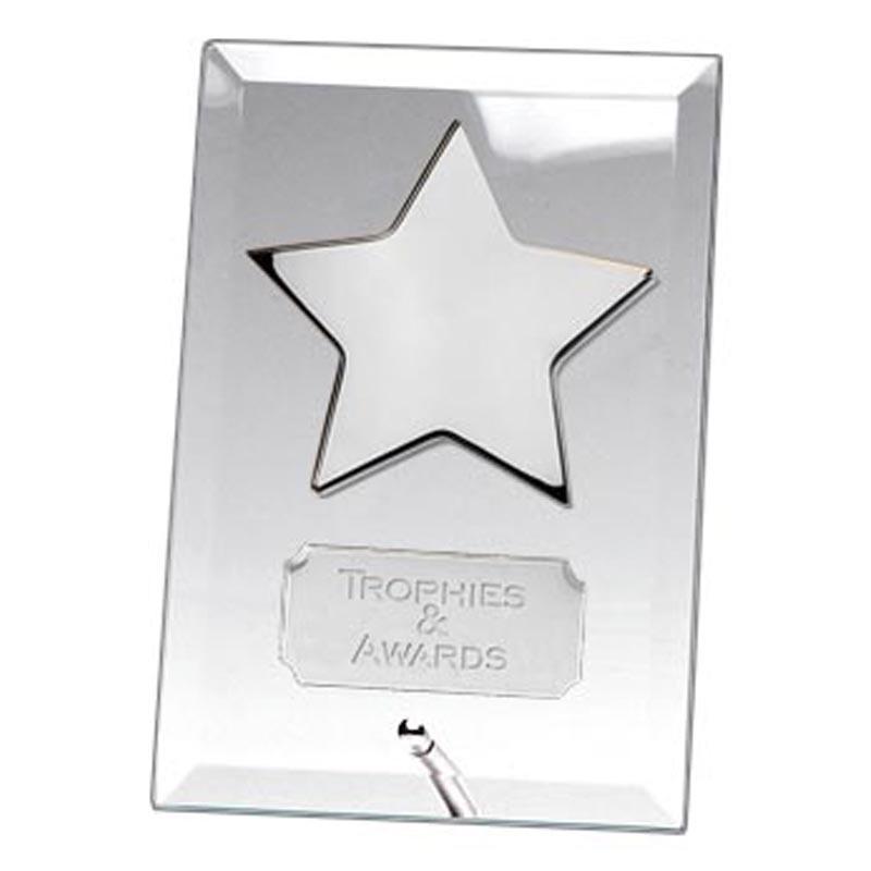 Crest Silver Star Jade Plaque