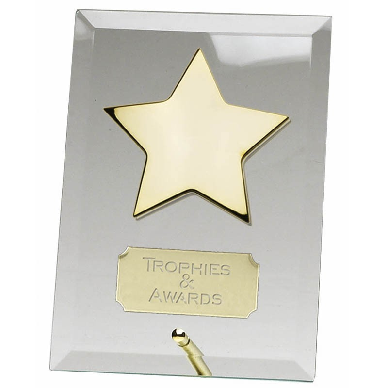Crest Gold Star Jade Plaque