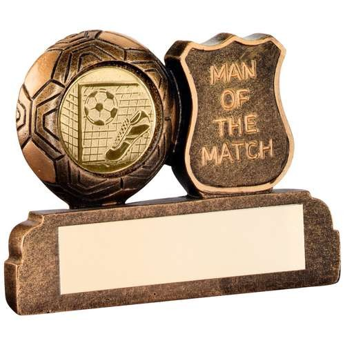 Bronze/Gold Resin Football 'Man of the Match' Trophy
