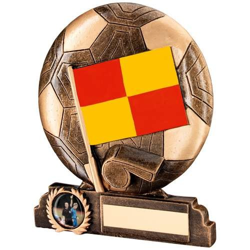 Bronze/Gold/Red/Yellow Resin Linesman Trophy