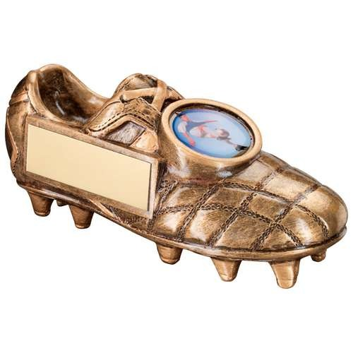 Bronze/Gold Football Boot Trophy