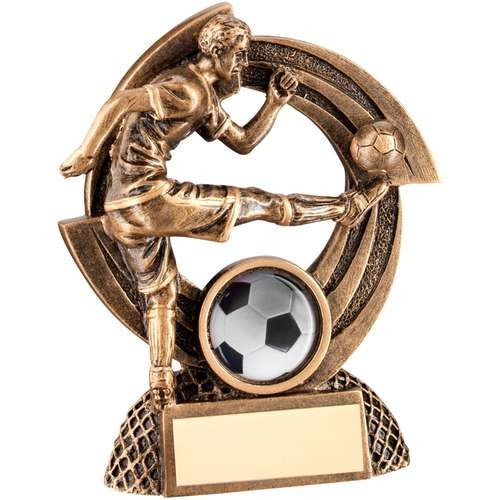 Bronze/Gold Flatback Male Football 'Quartz' Figure Trophy