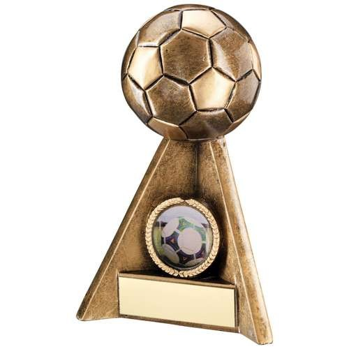 Bronze/Gold Football Pyramid Trophy