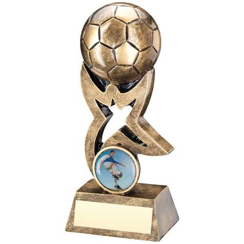 Bronze/Gold Football on Star Riser Trophy
